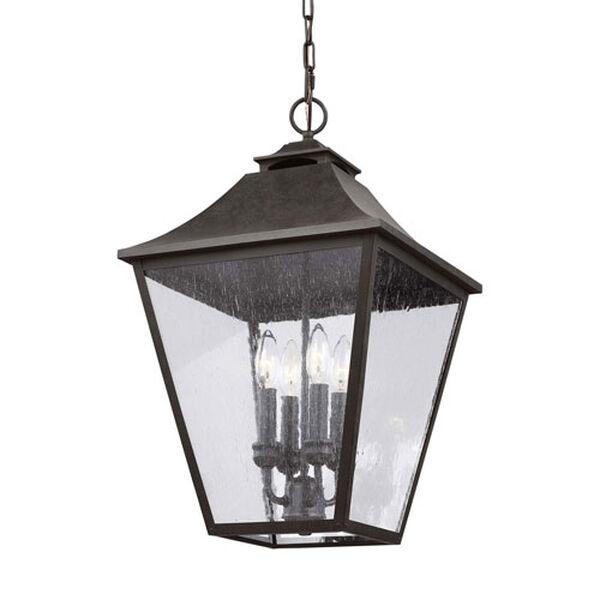 Sutton Black 23-Inch Four-Light Outdoor Pendant, image 3
