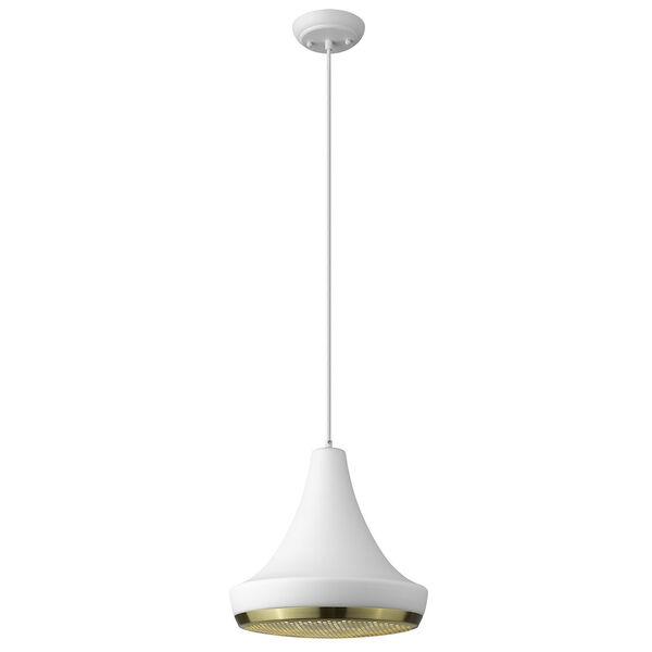 Tholos White One-Light Pendant, image 1