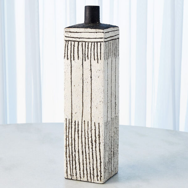 White Graffiti Square Vase, image 4