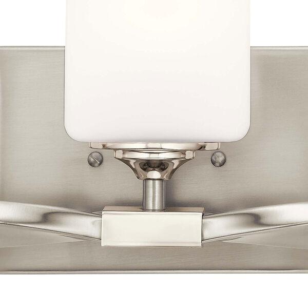 Marette Brushed Nickel Three-Light Bath Vanity, image 4