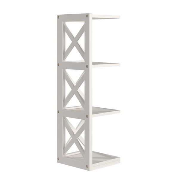 Tanya White X-Frame Three-Shelve Bookcase, image 3