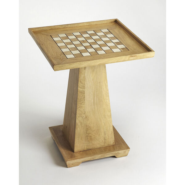 Butler Loft Levon Natural Mango Chess Game Table, image 1