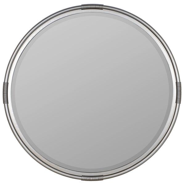 Scarlet Silver Metal 32-Inch x 32-Inch Wall Mirror, image 2