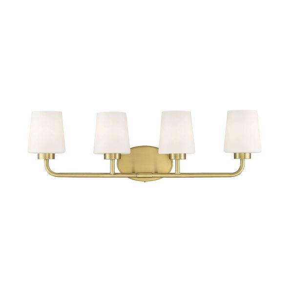 Capra Warm Brass Four-Light Bath Vanity, image 1