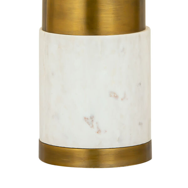 Jansen White Marble and Aged Brass One-Light Table Lamp, image 4