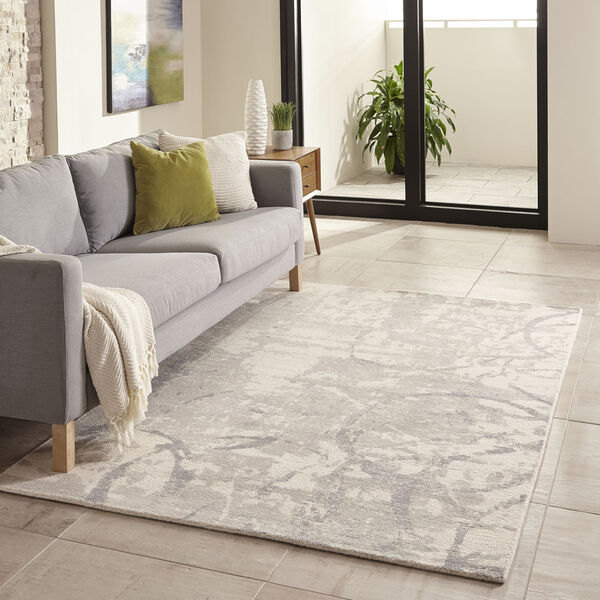 Illusions Gray Rectangular: 7 Ft. 6 In. x 9 Ft. 6 In. Rug, image 2