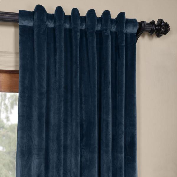 Blue 108 x 50 In. Plush Velvet Curtain Single Panel, image 4