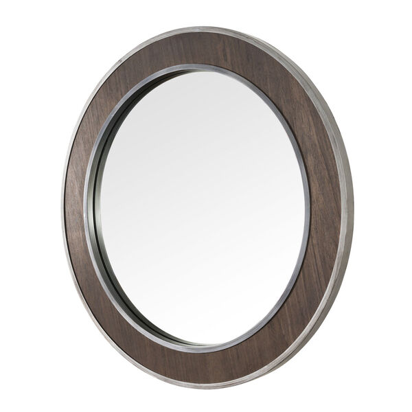 Macie Farmhouse Steel Round Wall Mirror, image 2