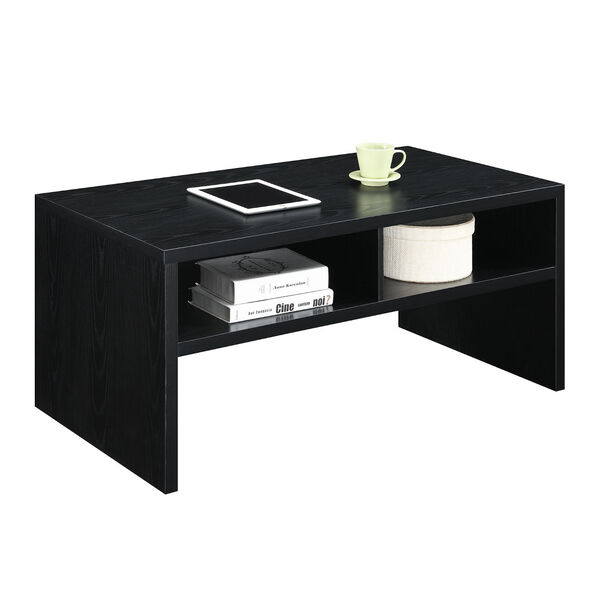 Northfield Admiral Black Deluxe Coffee Table with Shelves, image 3