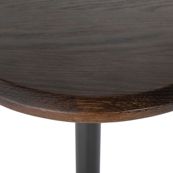 Exeter Walnut and Gray Side Table, image 5