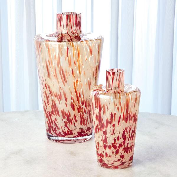 Red and Beige Confetti Shoulder Vase, image 5