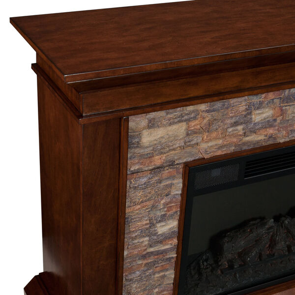 Canyon Whickey Maple Simulated Stone Electric Fireplace, image 5