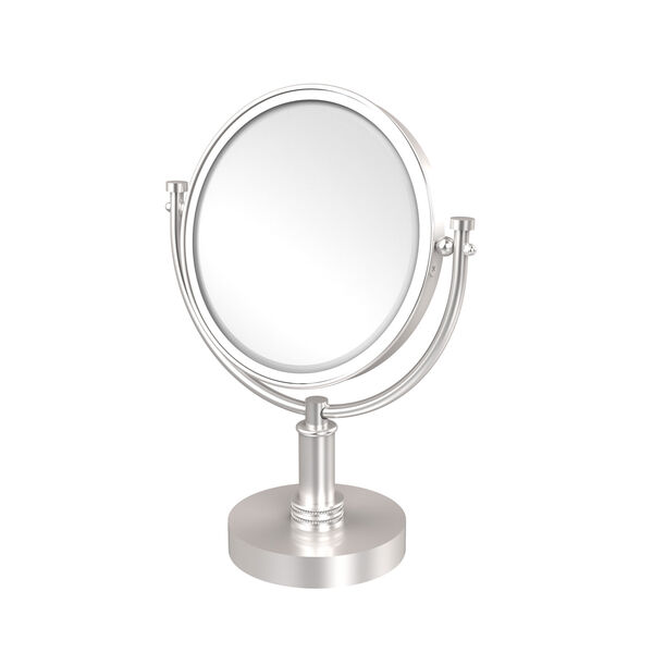 8 Inch Vanity Top Make-Up Mirror 4X Magnification, Satin Chrome, image 1