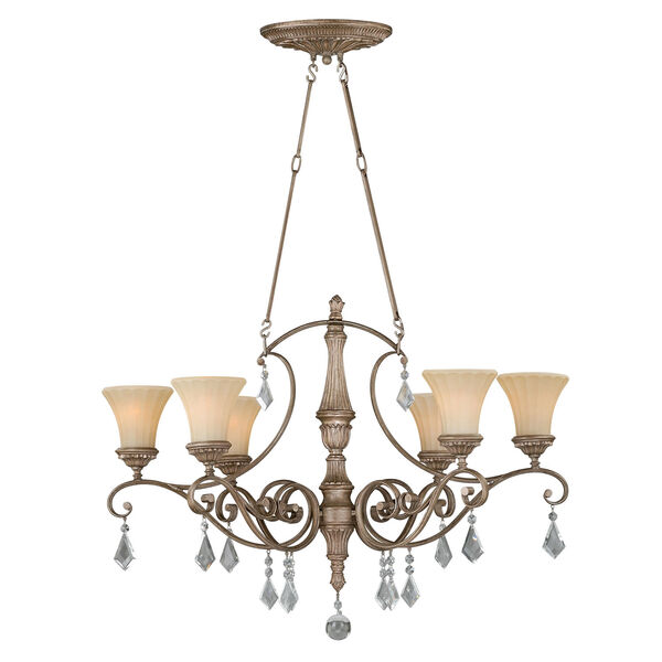 Avenant French Bronze 36.5-Inch Six-Light Chandelier, image 1