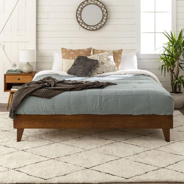 Walnut King Platform Bed, image 1