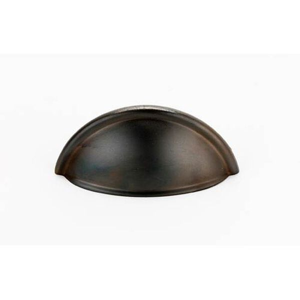 Chocolate Bronze Brass 3-Inch Cup Pull, image 1