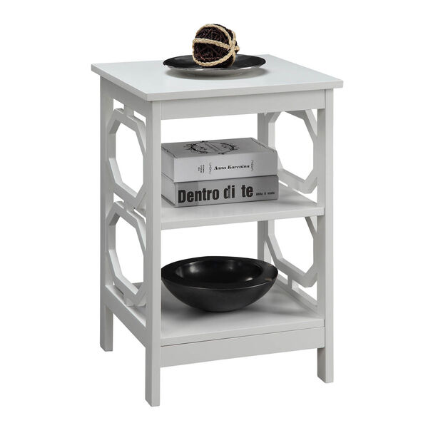 Omega End Table with Shelves, image 2