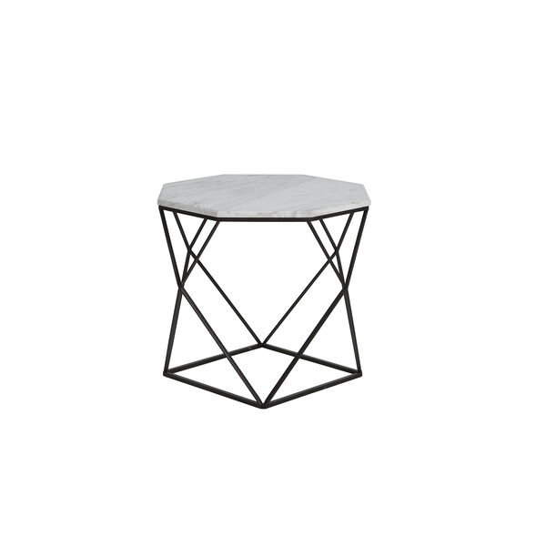 Kingstone Volakas Marble And Dark Bronze End Table, image 3