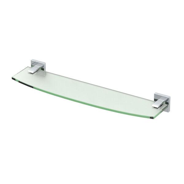 Elevate Chrome Glass Shelf, image 1