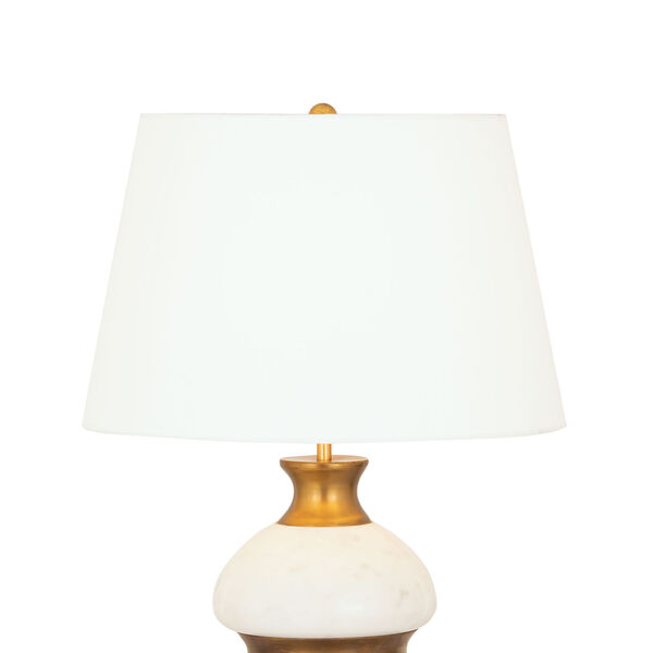 Packer Natural Alabaster and Aged Brass One-Light Table Lamp, image 3