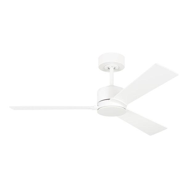 Rozzen Matte White 44-Inch Ceiling Fan, image 1