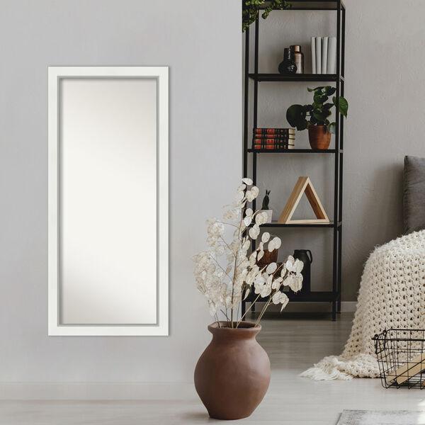 Eva White and Silver 29W X 65H-Inch Full Length Floor Leaner Mirror, image 6