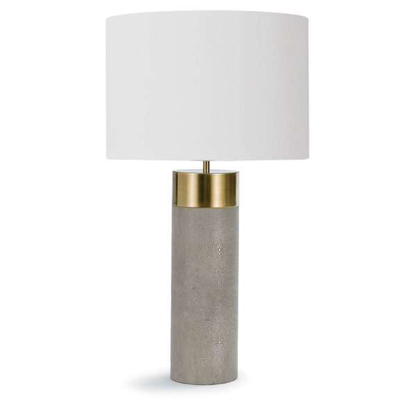 Classics Brass and Ivory Grey One-Light Table Lamp, image 1