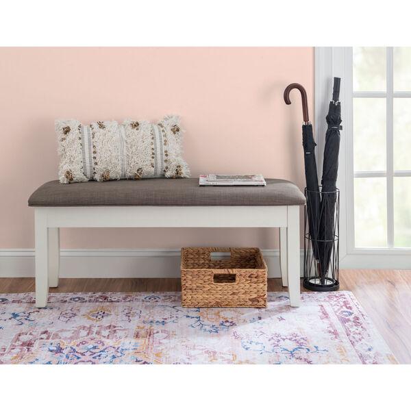 Chloe Vanilla White Storage Bench, image 4