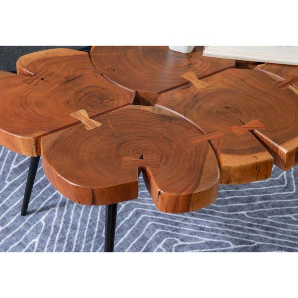 Aurelio Brown and Black Live Edge Large Coffee Table, image 8